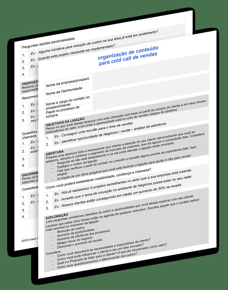 Script de vendas para prospecção de clientes